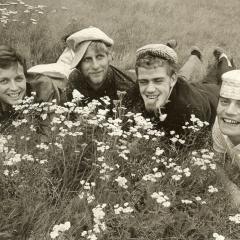 1966 Spotnicks ohne Bob auf Wiese