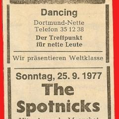 1977 09 Spotnicks Ankuendigung RN